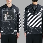 Off White Diagonals Hoodie Marble