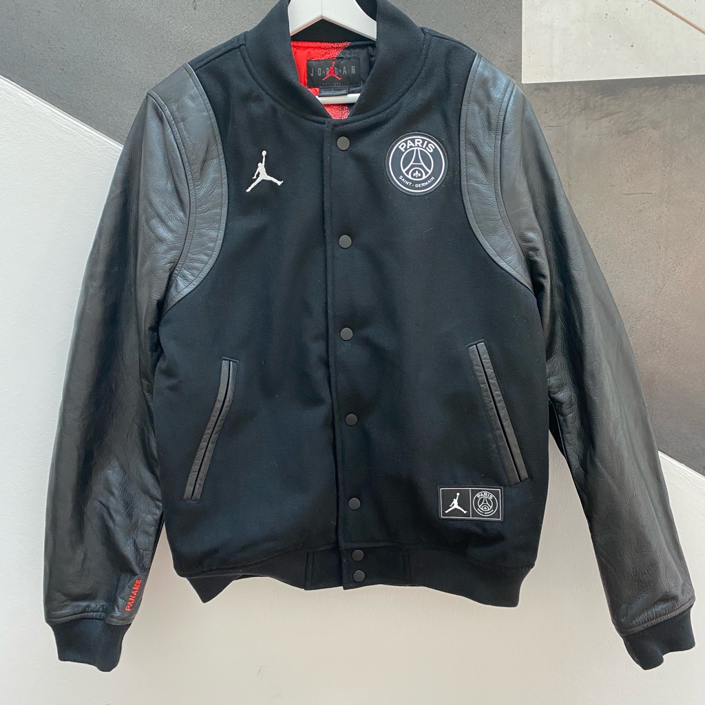 air jordan x psg varsity jacket