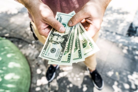 手形、お金、財務、銀行、手、投資、節約、富、usd
