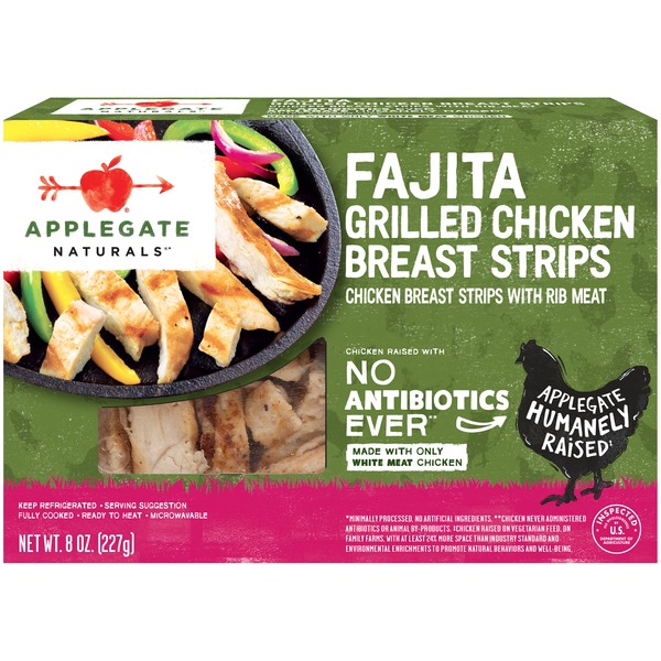Applegate Natural Fajita Style Grilled Chicken Strips 8 Oz From