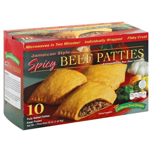 Caribbean Food Delights Beef Patties, Spicy, Jamaican ...