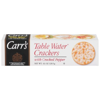 Carr's Table Water with Cracked Pepper Crackers