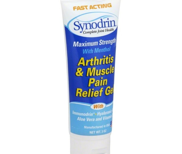 Synodrin Arthritis Muscle Pain Relief Gel Maximum Strength With Menthol