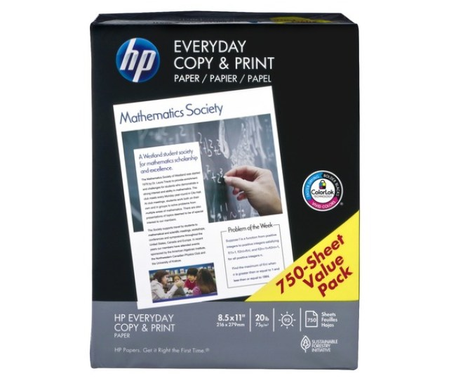Hp Everyday Copy Print Paper Value Pack 750 Ct