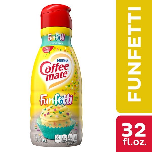 Coffee Mate Funfetti Vanilla Cake Liquid Coffee Creamer 32 Oz Instacart