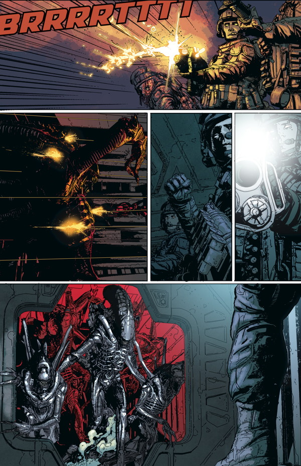 Aliens Defiance 1 Profile Dark Horse Comics