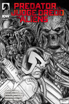 Predator vs. Judge Dredd vs. Aliens #4 (Glenn Fabry variant cover)