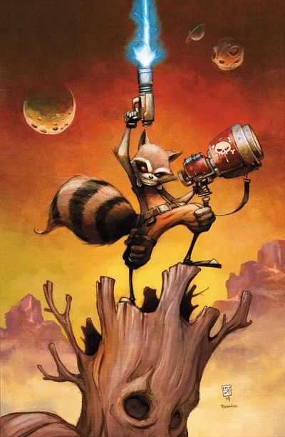Rocket Raccoon #1. By Skottie Young. Marvel Comics.
