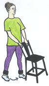 standing lateral leg raise exercise