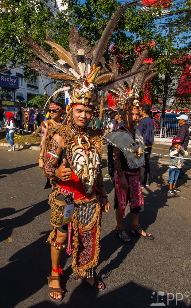 Costume made of bones and feathers