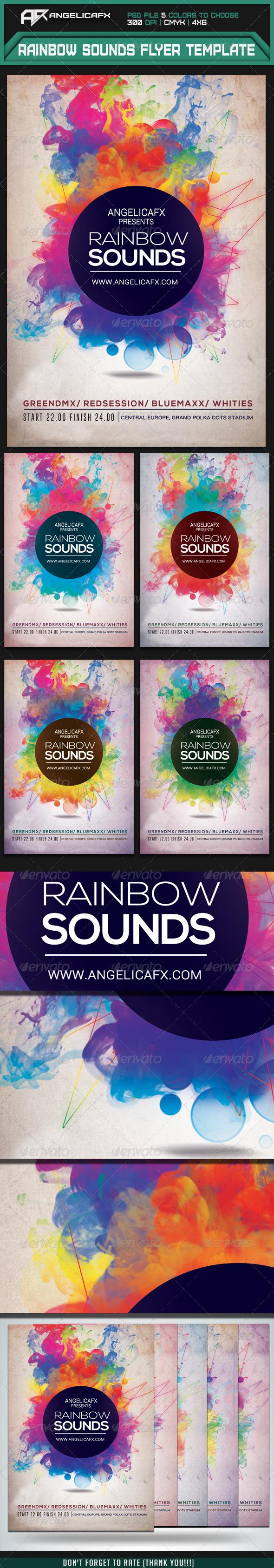 Rainbow Psd Flyer Tinkytyler
