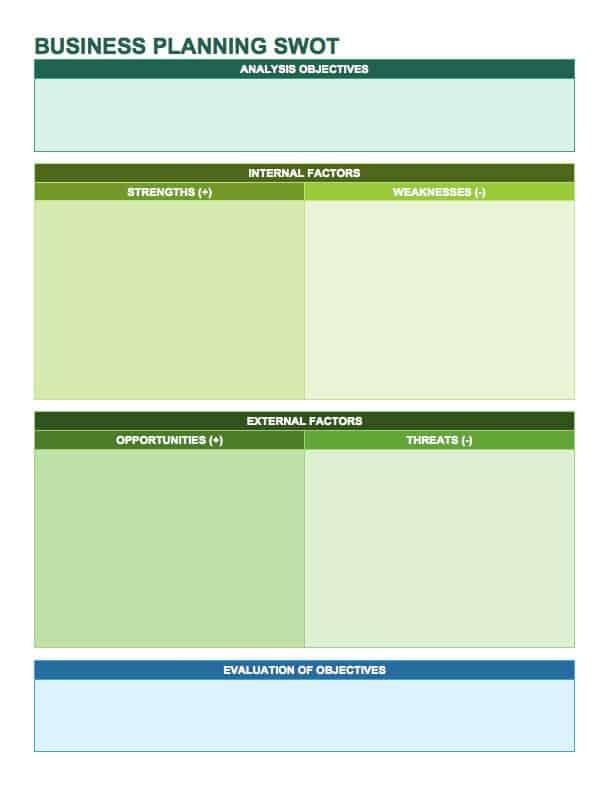 De waarden die u toekent aan de verschillende snijvlakken zijn als 14 free swot analysis templates smartsheet wajeb Choice Image