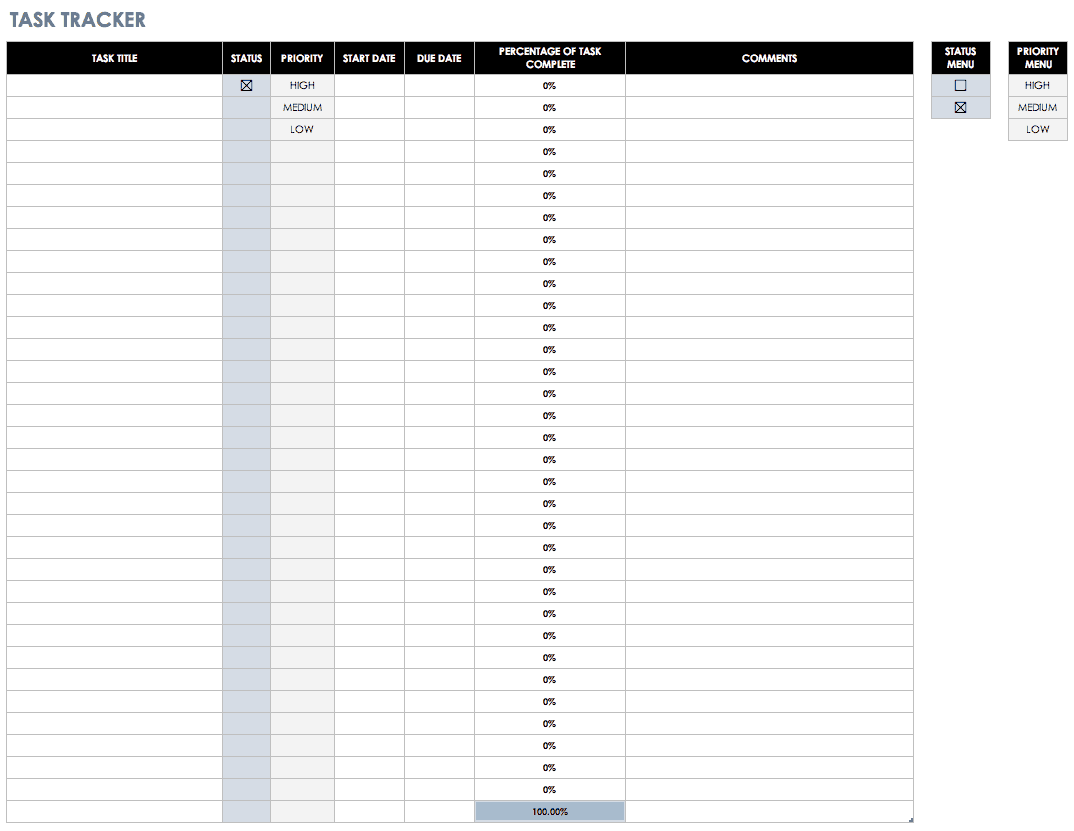 Daily Checklist Template Excel