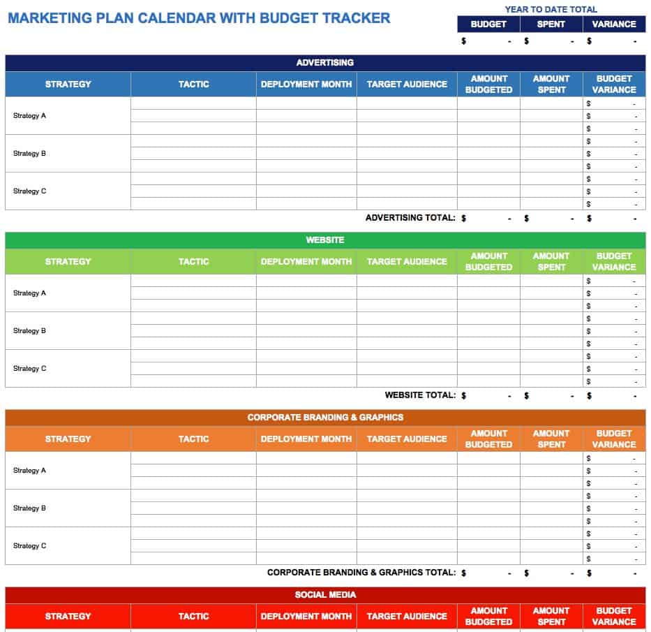 Marketing Plan Calendar Template marketing calendar template – Sample Marketing Calendar