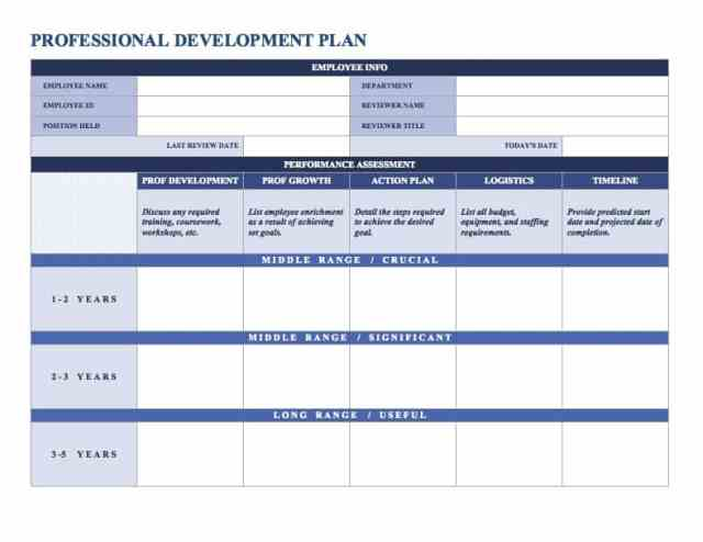 Employee Development Plan Template  Free Download