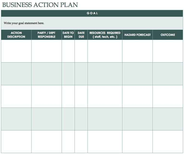 Lesson Blank Daily Form Plan