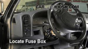 Interior Fuse Box Location: 19861997 Nissan Pickup  1995 Nissan Pickup XE 30L V6 Extended Cab