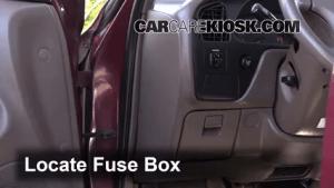 Interior Fuse Box Location: 19921996 Toyota Camry  1996 Toyota Camry LE 22L 4 Cyl Sedan (4 Door)