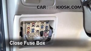 Interior Fuse Box Location: 19982002 Toyota Corolla