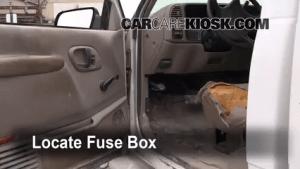 Interior Fuse Box Location: 19902000 GMC C3500  2000 GMC