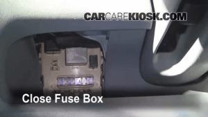 Interior Fuse Box Location: 20002005 Toyota Echo  2001