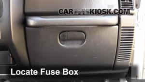 Interior Fuse Box Location: 19972006 Jeep Wrangler  2004