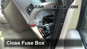 Interior Fuse Box Location: 20052007 Buick Terraza  2005 Buick Terraza CX 35L V6