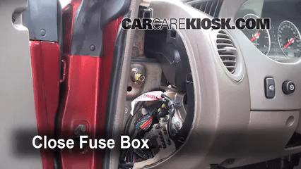 interior fuse box location 2001 2006 chrysler sebring 2006 dodge caravan interior fuse box location