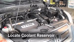 How to Add Coolant: Honda CRV (20022006)  2006 Honda CRV SE 24L 4 Cyl