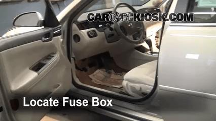 Interior Fuse Box Location 2006 2017 Chevrolet Impala