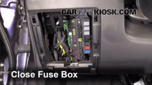 Interior Fuse Box Location: 20072008 Honda Fit  2008 Honda Fit 15L 4 Cyl