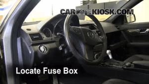 Interior Fuse Box Location: 20082015 MercedesBenz C300  2009 MercedesBenz C300 Sport 30L V6