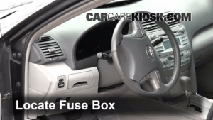Interior Fuse Box Location: 20072011 Toyota Camry  2009