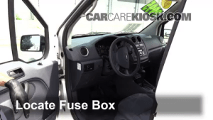 Interior Fuse Box Location: 20102013 Ford Transit Connect  2010 Ford Transit Connect XLT 20L