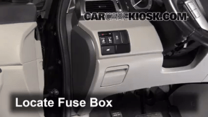 Interior Fuse Box Location: 20112017 Honda Odyssey  2011