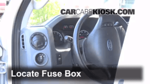 Interior Fuse Box Location: 20082014 Ford E350 Super Duty  2013 Ford E350 Super Duty XLT 5