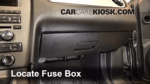 Interior Fuse Box Location: 20102014 Ford Mustang  2013 Ford Mustang 37L V6 Convertible