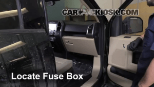 Interior Fuse Box Location: 20152017 Ford F150  2015 Ford F150 XLT 35L V6 Turbo Crew Cab Pickup