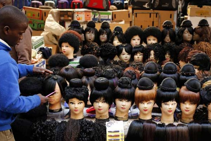 African hair market, Image Source: Quartz