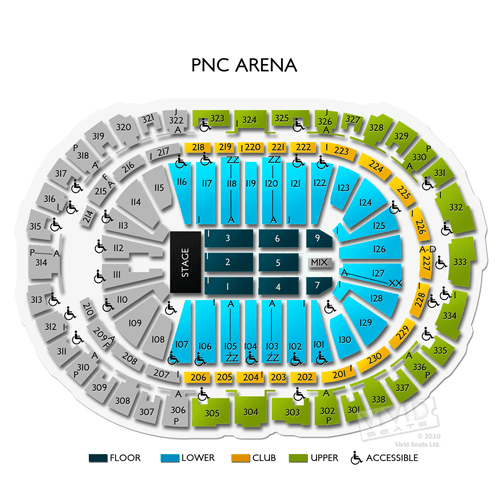 Pnc Arena Raleigh Seating Chart