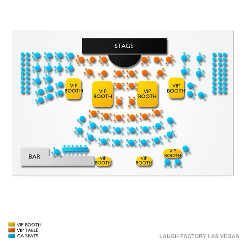 Tropicana Laugh Factory Seating Chart