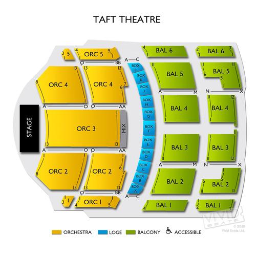 Taft theatre seating chart