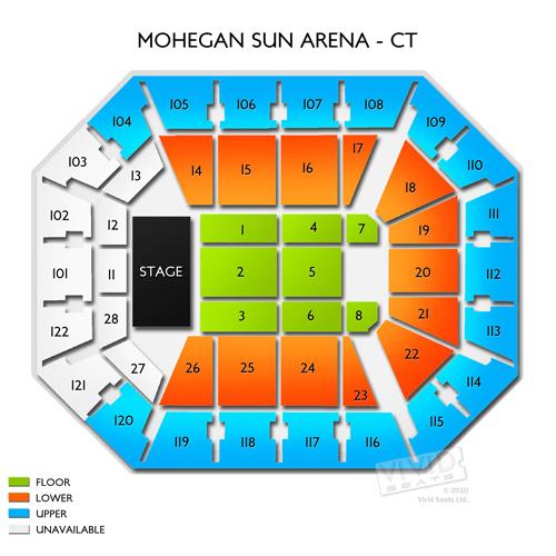 Arena Sun Mohegan Seating Chart