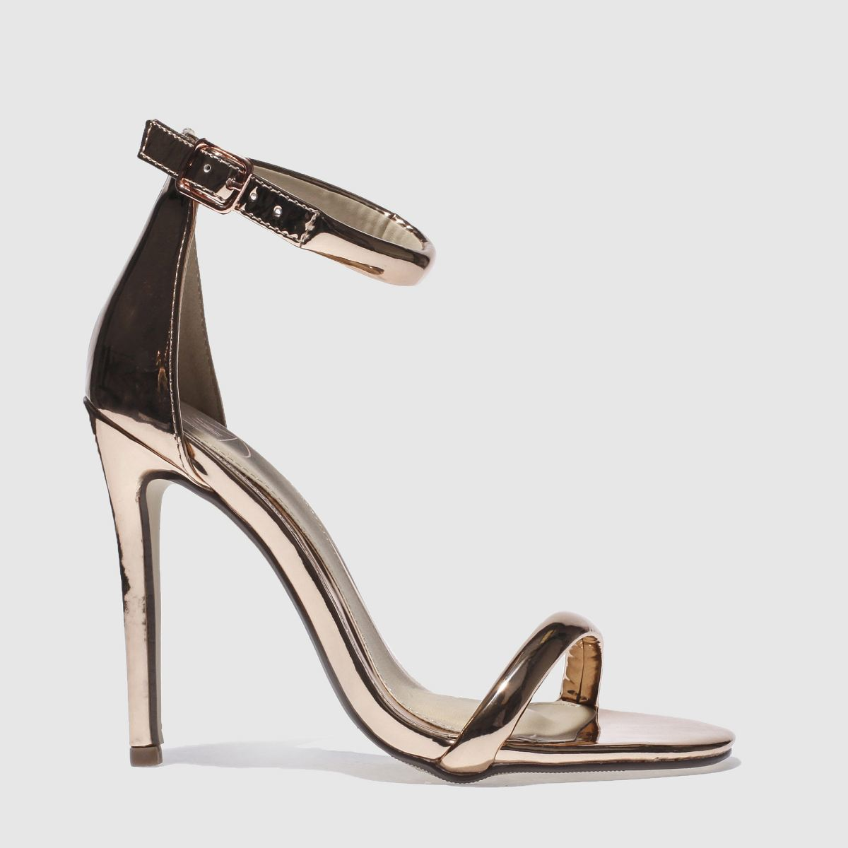 Image result for womens missguided rose gold strap barely there high heels