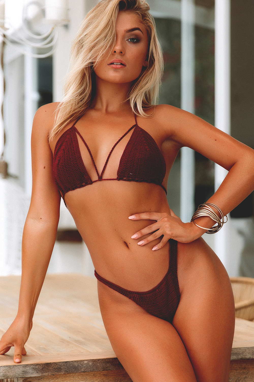 Burgundy Beach Rose Bikini Top Amp Rosemary Burgundy Bikini Bottoms