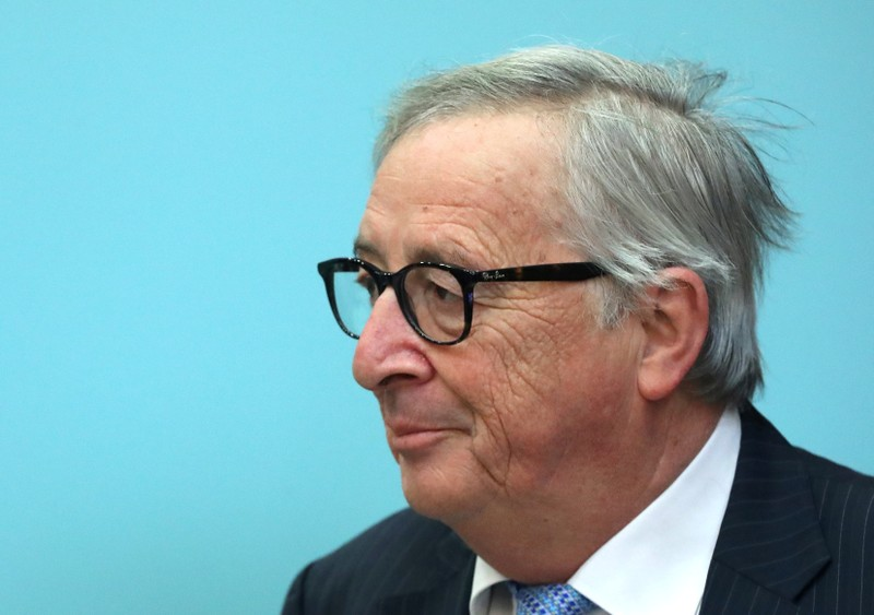 FILE PHOTO: European Commission President Jean-Claude Juncker attends weekly College of Commissioners meeting in Brussels
