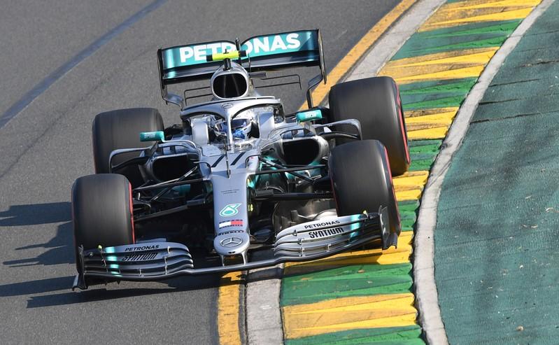 Mercedes' Valtteri Bottas drives through turn two during the Formula One F1 Australian Grand Prix at the Albert Park Grand Prix Circuit in Melbourne