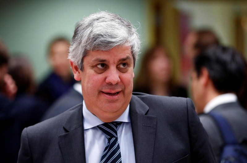 Eurogroup President Centeno attends a eurozone finance ministers meeting in Brussels