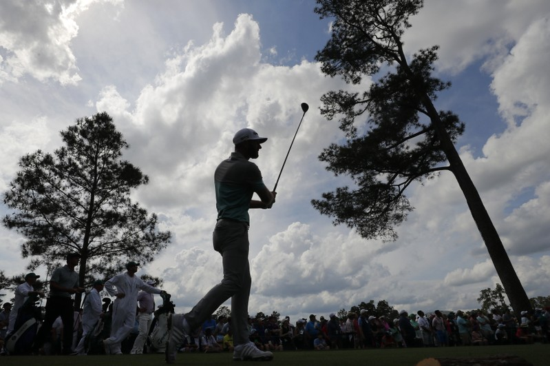 Second round play of the Masters at Augusta National