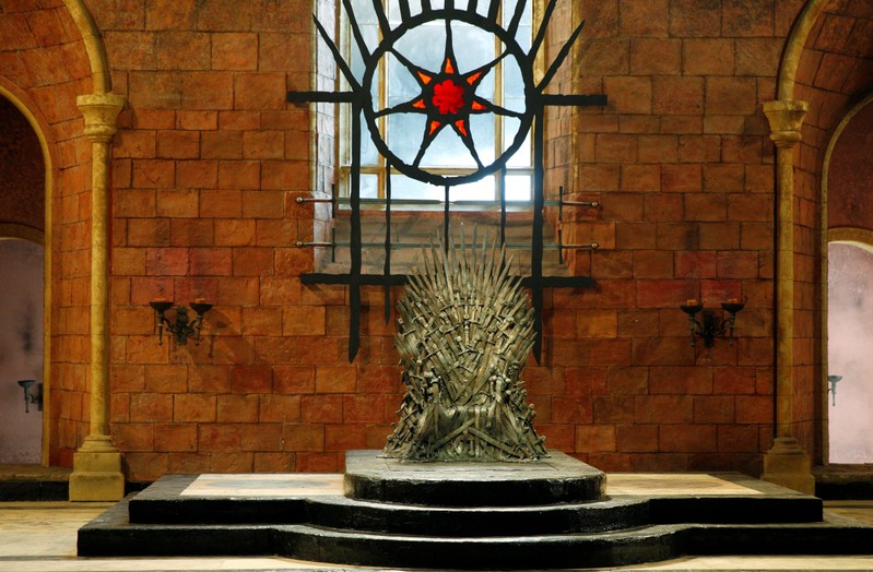 FILE PHOTO: The Iron Throne is seen on the set of the television series Game of Thrones in the Titanic Quarter of Belfast, Northern Ireland